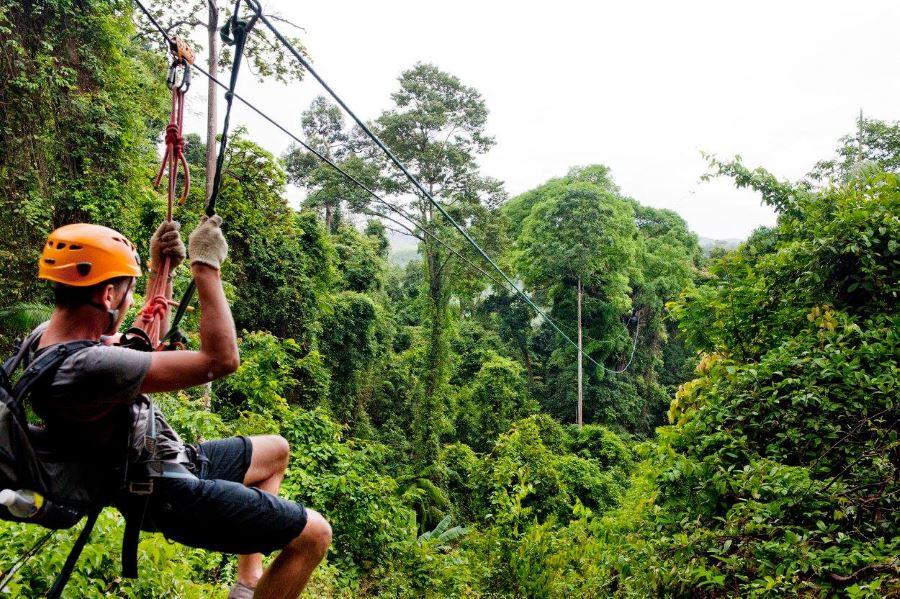 langkawi canopy adventure - tempat aktiviti lasak  pulau langkawi