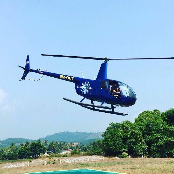 naik helikopter di helioutpost langkawi