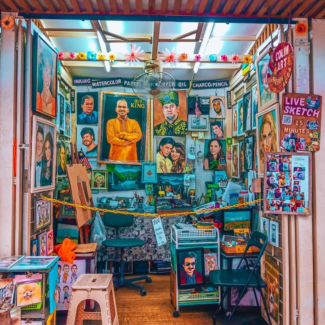 peniaga lukisan pasar seni