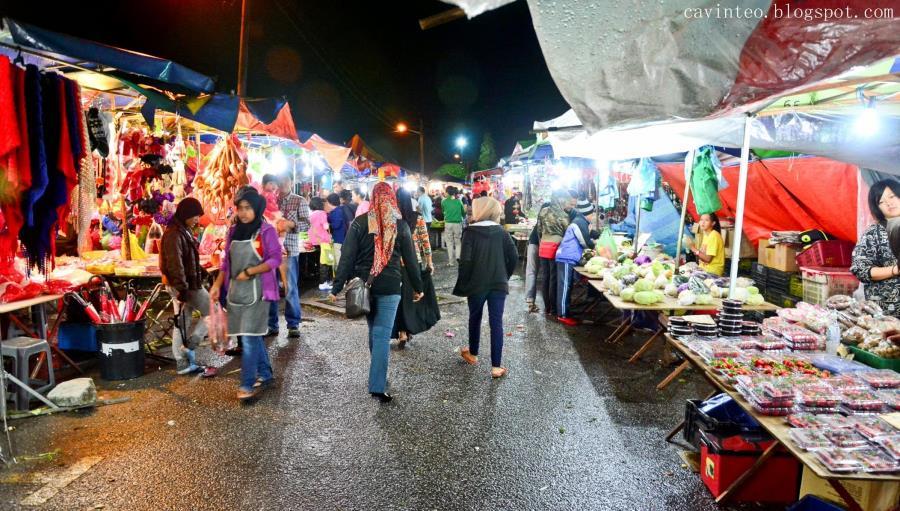 Pasar Malam Brinchang - tarikan waktu malam di cameron highlands