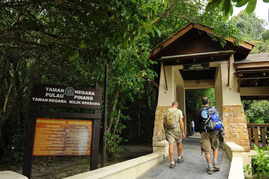 national park penang pintu masuk