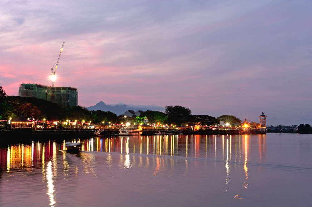 kuching sarawak waterfront