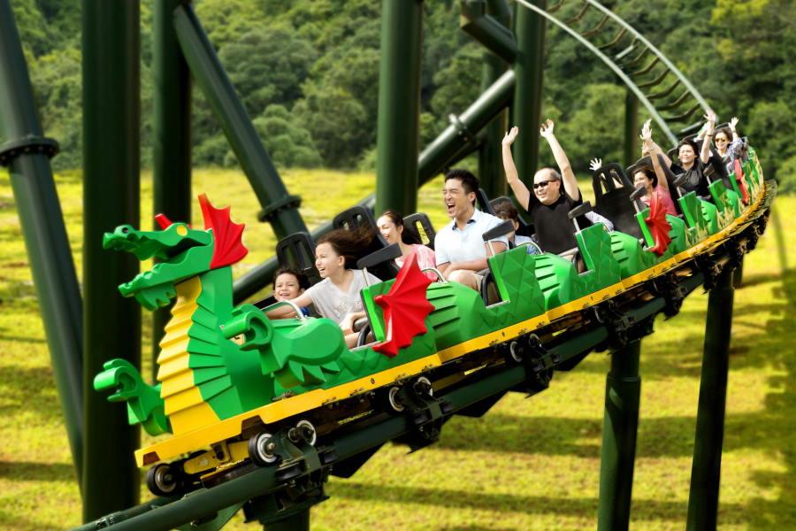 the dragon rollercoaster legoland