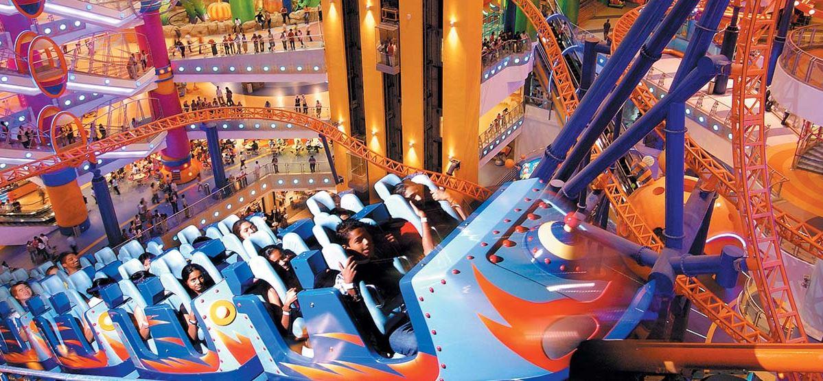 indoor roller coaster di taman tema cosmos world berjaya times square kuala lumpur