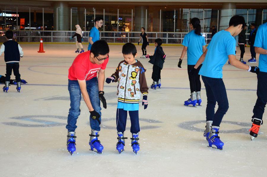 coaching di Putrajaya Icescape Ice Rink