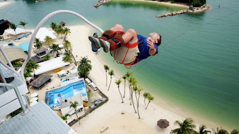 tarikan ekstrem singapore - bungee jump