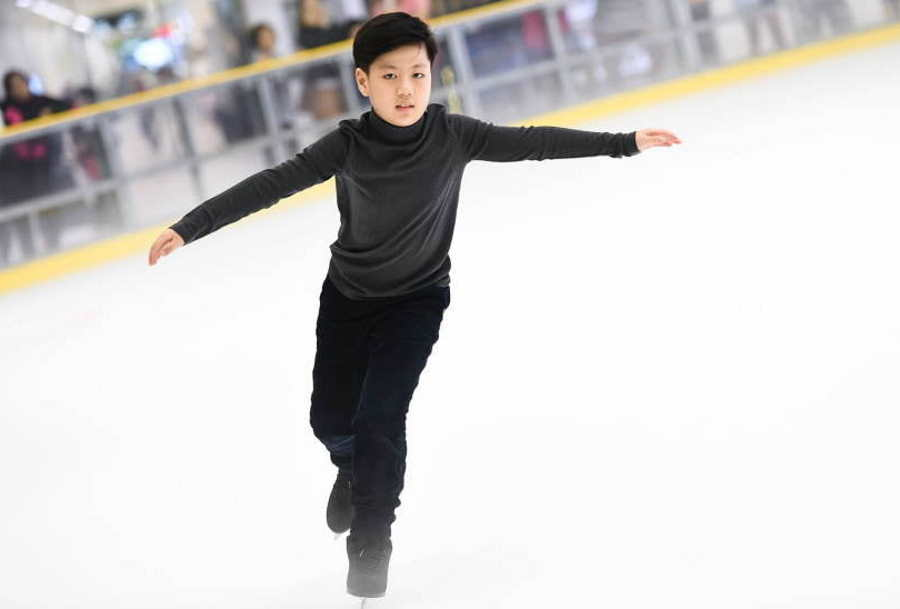 tarikan johor blue ice skating rink johor