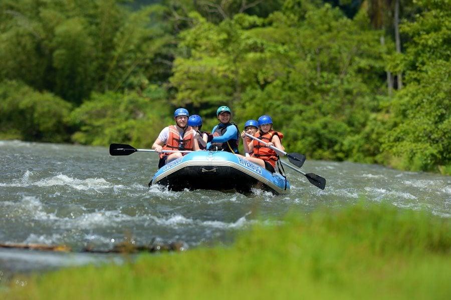 water rafting di sungai kiulu sabah