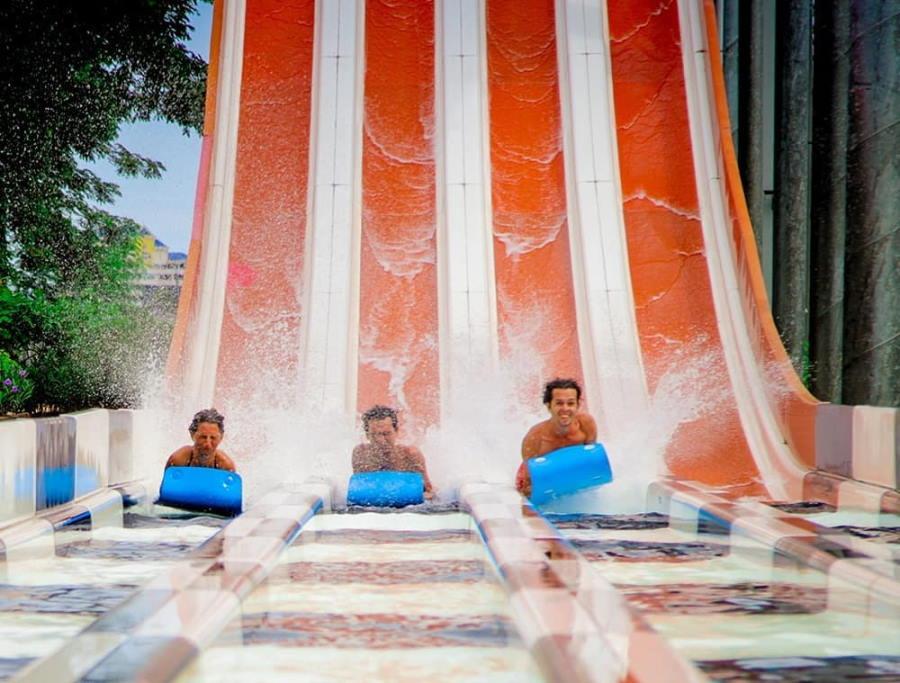 langkawi waterpark slide racer