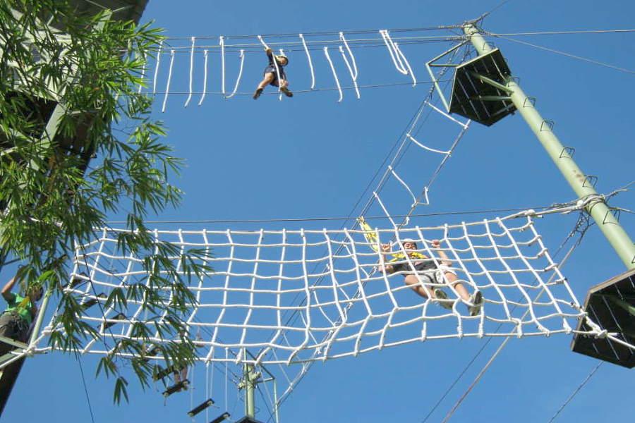 tarikan sabah - zip borneo obstacle course