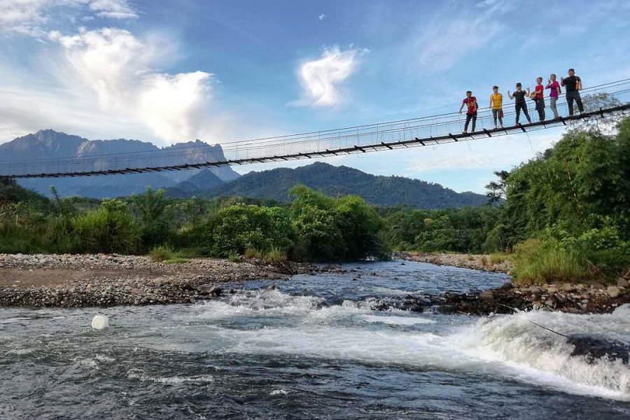 tegudon tourism village sabah - titi gantung