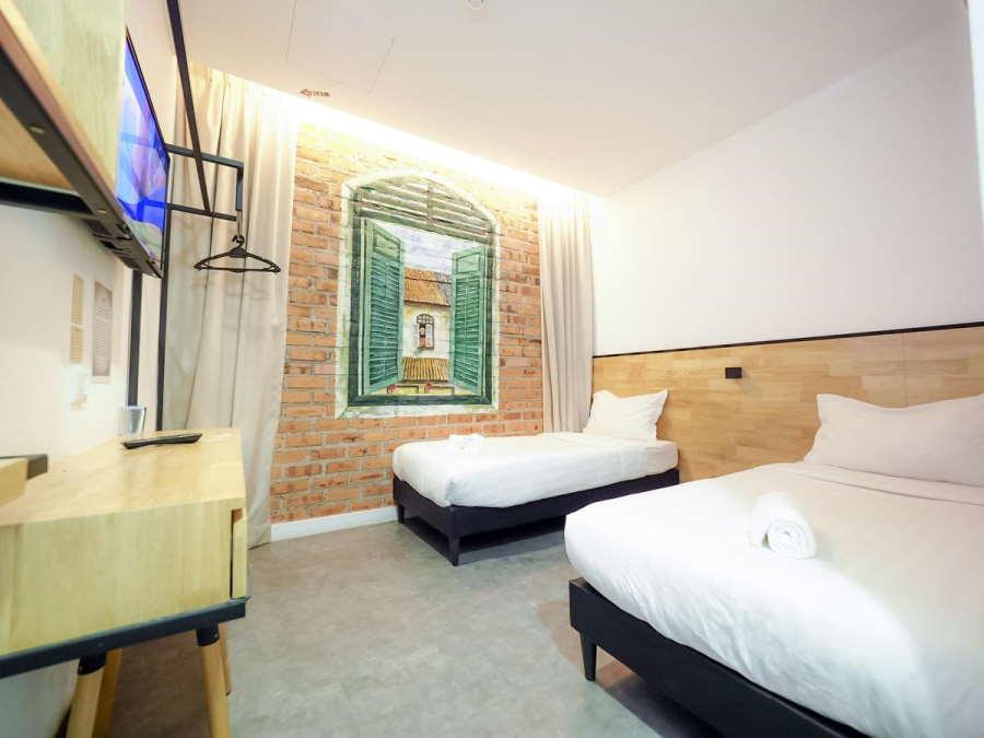 bilik twin di hotel jw boutique - hotel murah melaka bawah RM 100