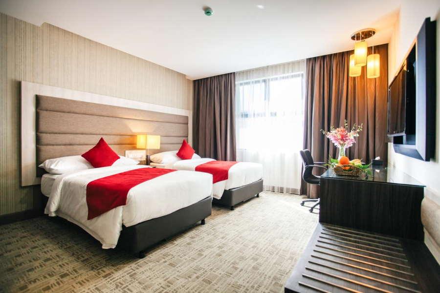 bilik di hotel verdant hill sederhana premium
