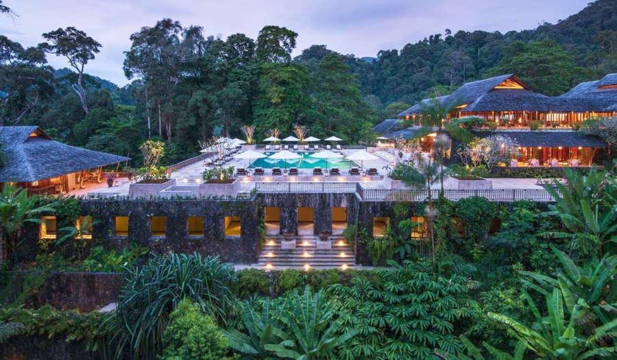 kolam renang the datai langkawi di pavillion yang mewah