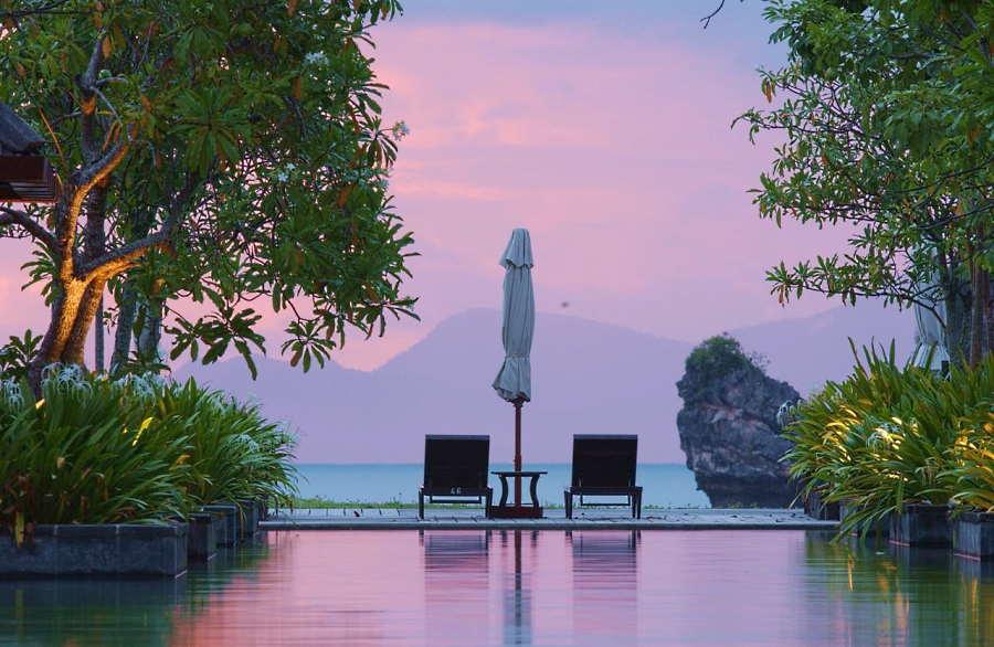 pemandangan romantik di tanjung rhu resort yang sesuai untuk couple yang berhoneymoon