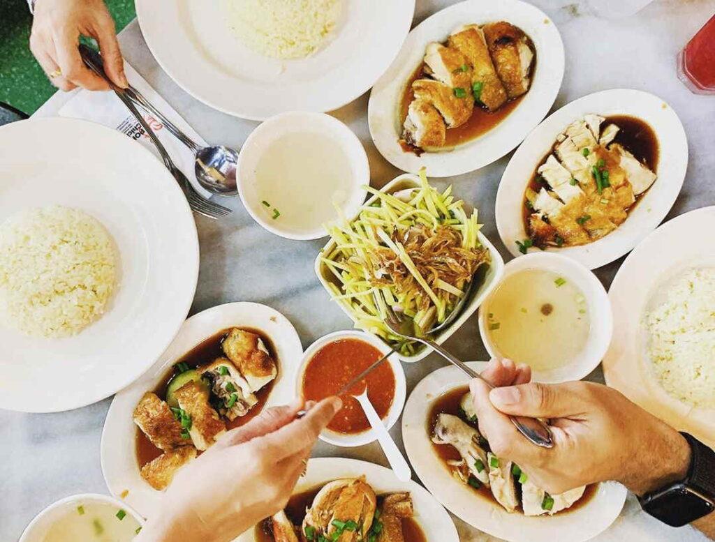lauk Cina sedap Ipoh di kedai Hainan Chicken Rice