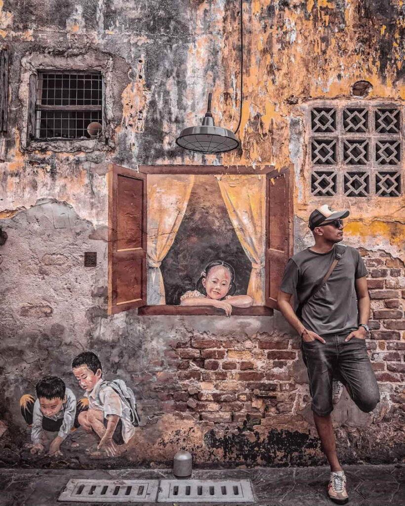 mural di kwai chai hong petaling street untuk fotografi