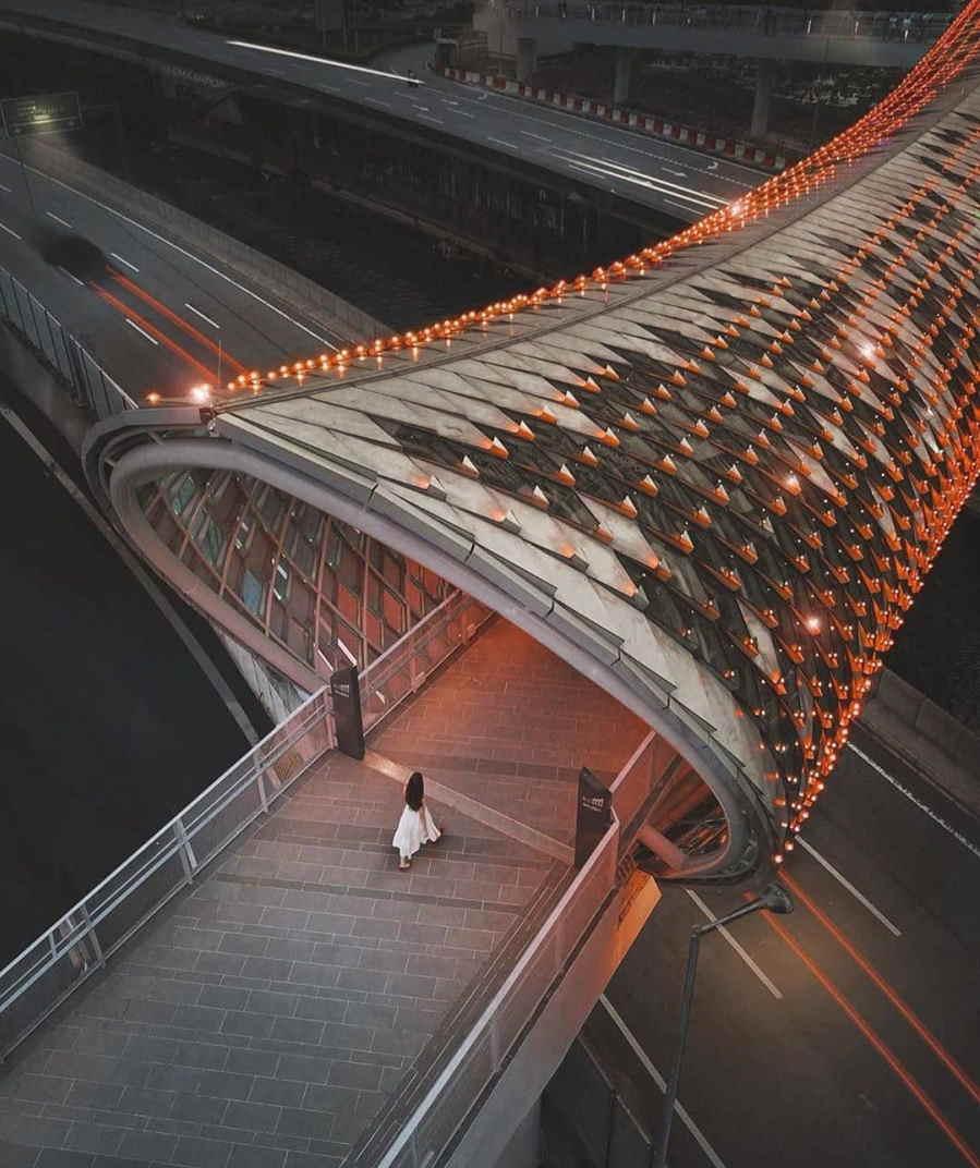 jambatan saloma dari pandangan atas