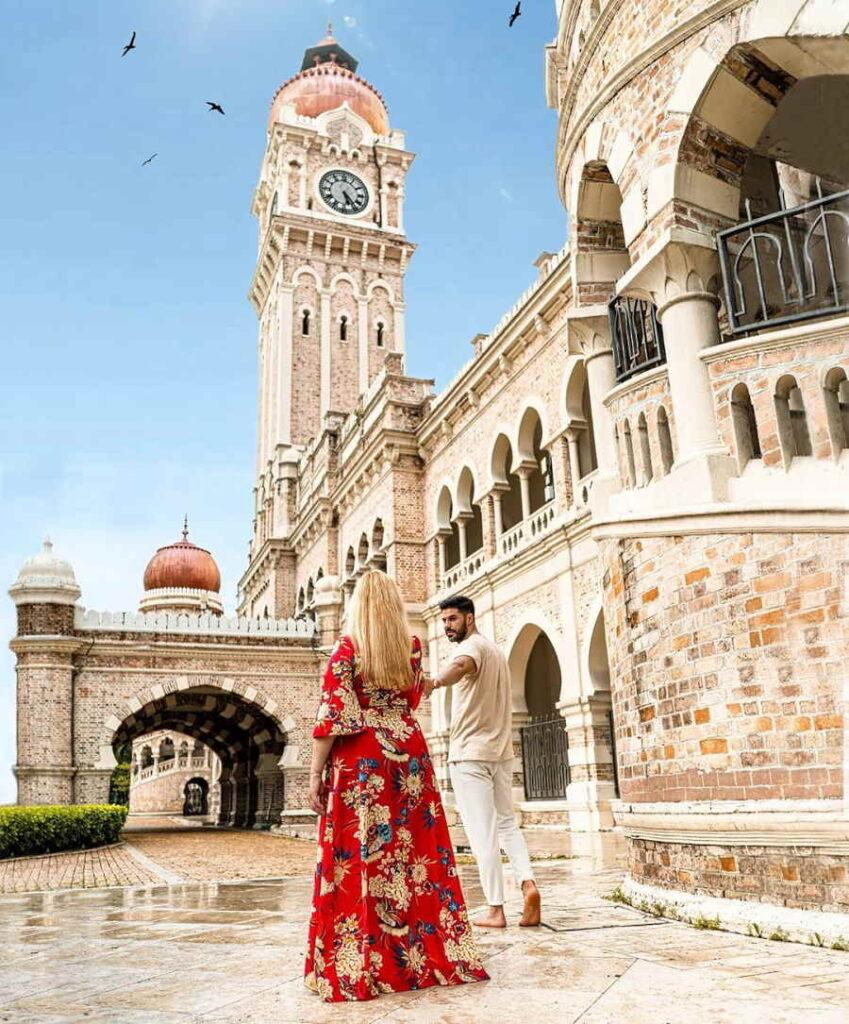 spot ootd best kat kl - di dataran merdeka dan bangunan sultan abdul samad