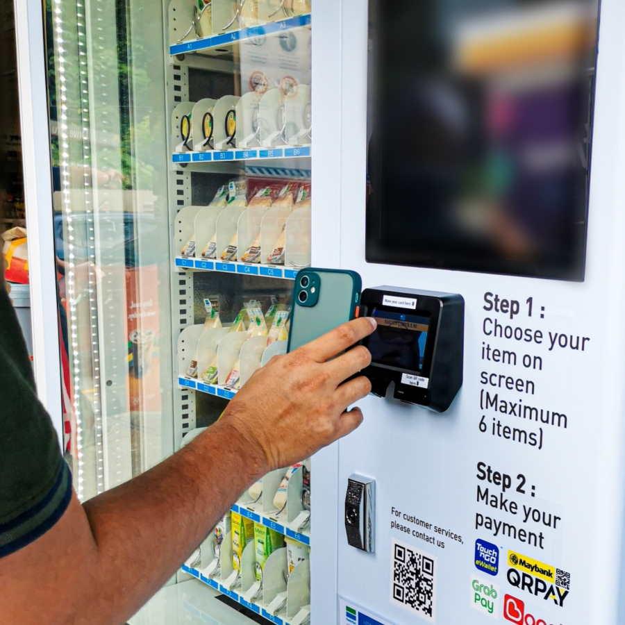 touchless vending machine family mart